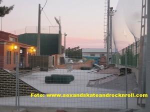 Foto de las obras del futuro Skatepark de Canet d´en Berenguer