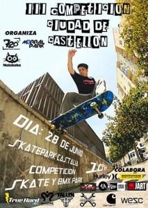 Cartel promocional de la competción de skate